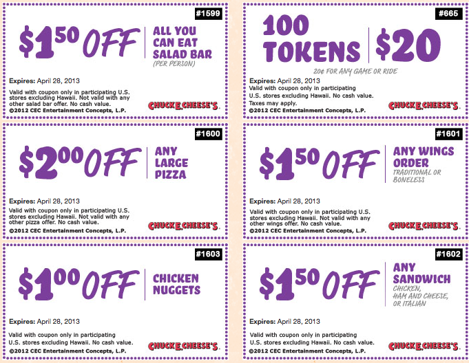 graphic relating to Chuck E Cheese Coupon Printable known as Free of charge Printable Discount codes: Chuck E Cheese Discount codes Warm Discount codes