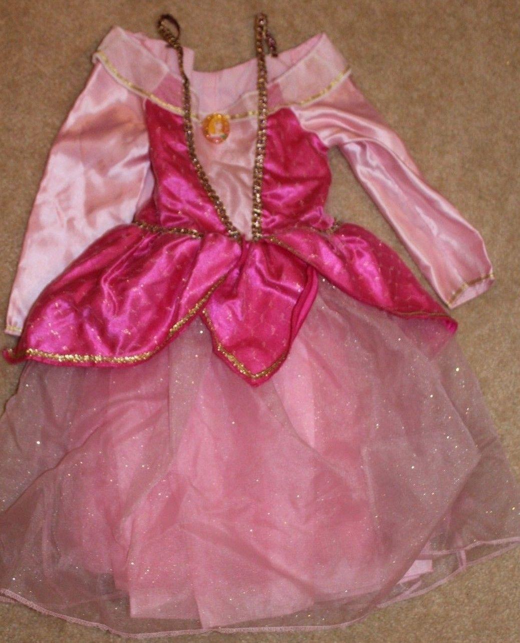 Disney Princess Aurora Sleeping Beauty Pink Dress Costume Size 4-6X NWT