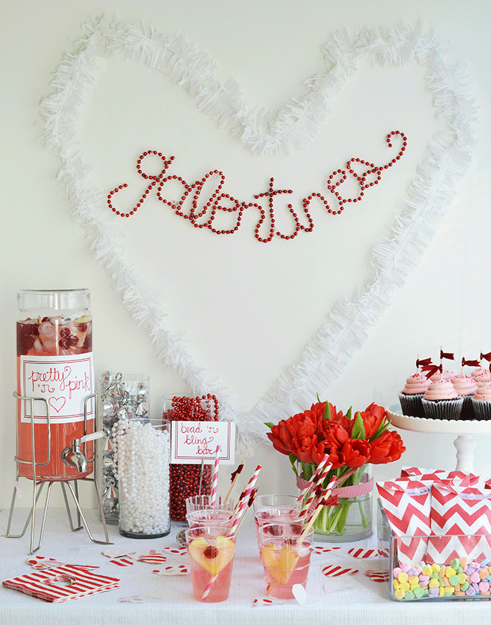 galentines day party ideas shoppe talk valentines day. Black Bedroom Furniture Sets. Home Design Ideas