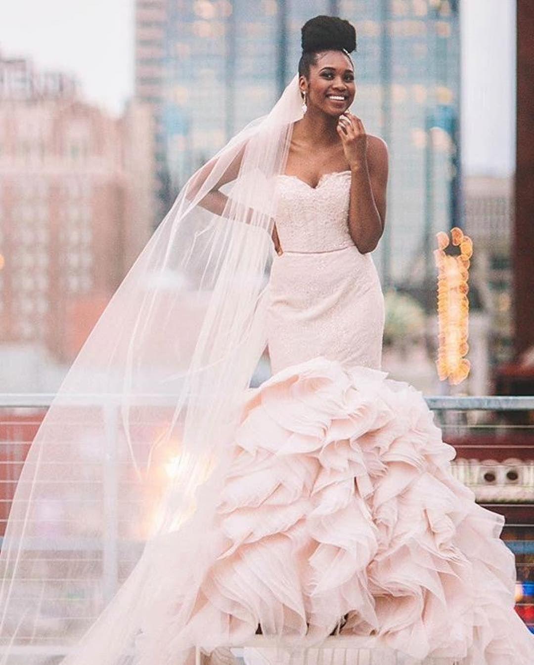 Blush Lazaro Wedding Gown: Such A Pretty Wedding Dress