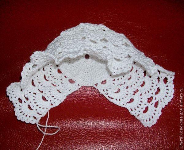 قبعة كروشية للمولودة Victorian Crocheted Hat Uncinetto Bebe Immagini