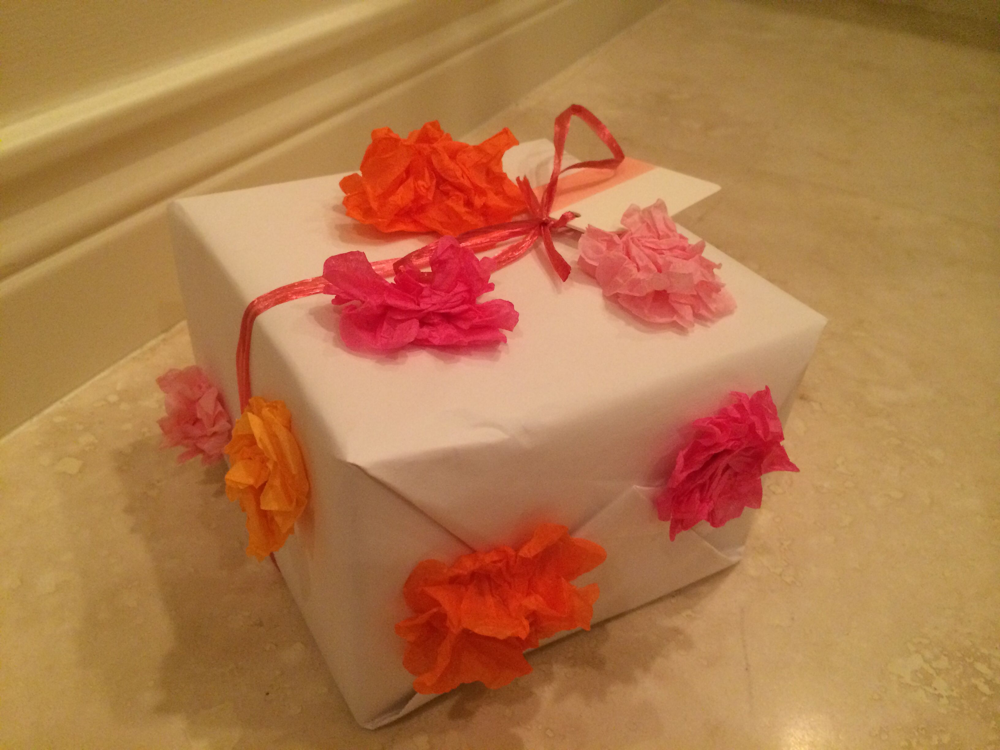 Paper Tissue Flower Embellishment Wrapping Gift Wrapping