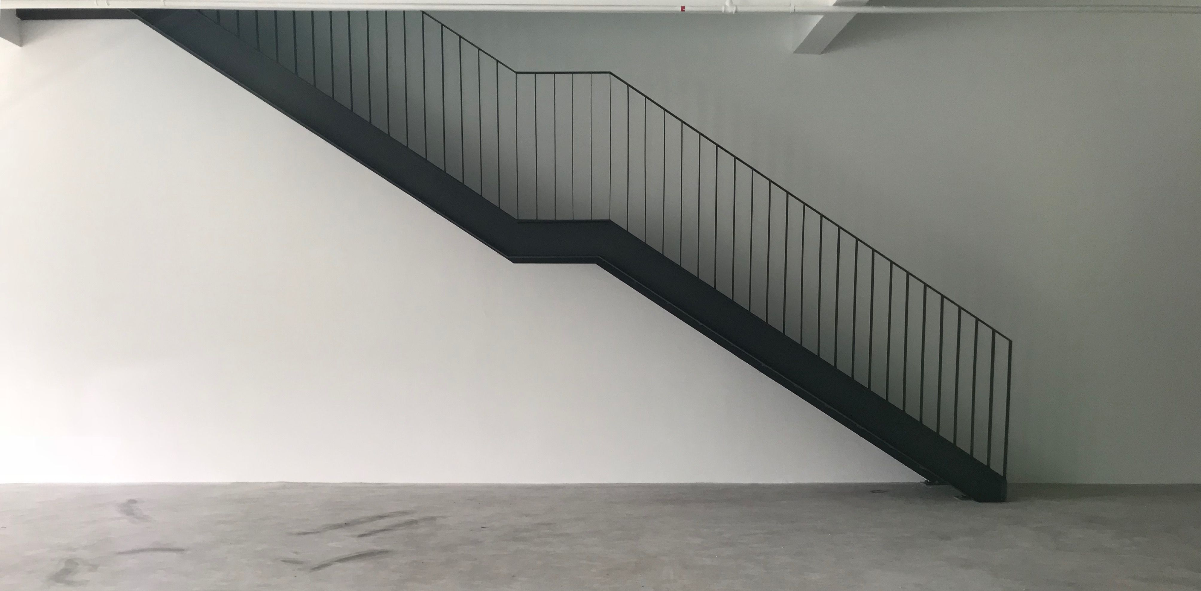 Neat Design Of I Beam And Checkered Steel Plate Stairs