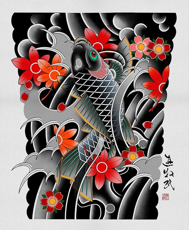 sketches | кочевник тату | японская татуировка