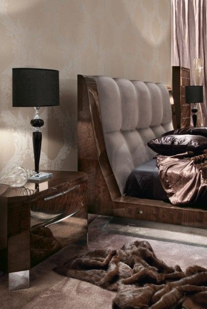 Giorgio Vogue Bedroom Cal King Size Bed 533 Italian Furniture