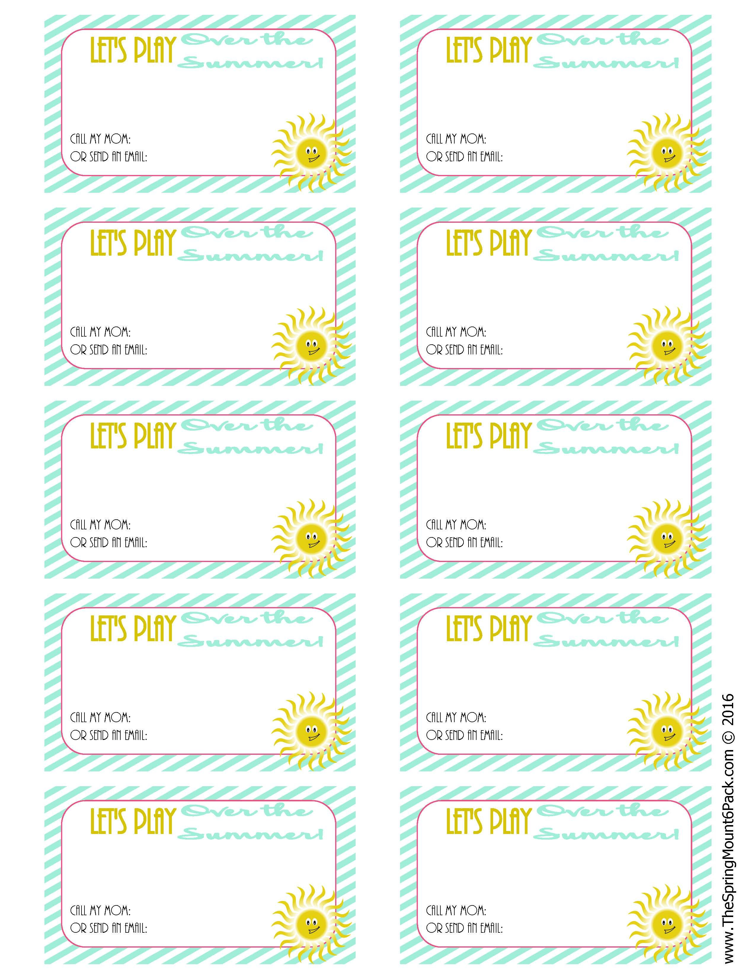 Easy Way for Kids to Stay in Touch Over the Summer | Crafts, Summer ...