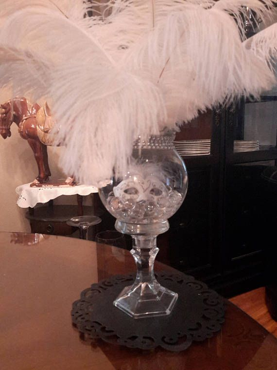 Masquerade Ostrich Feather Centerpiece Ostrich Feathers Party Sweet