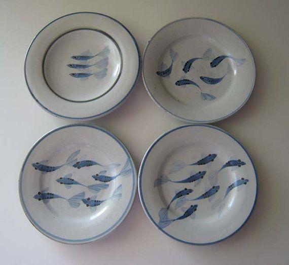 Roues porcelaine assiette beurre chez les poissons//design moderne//humour