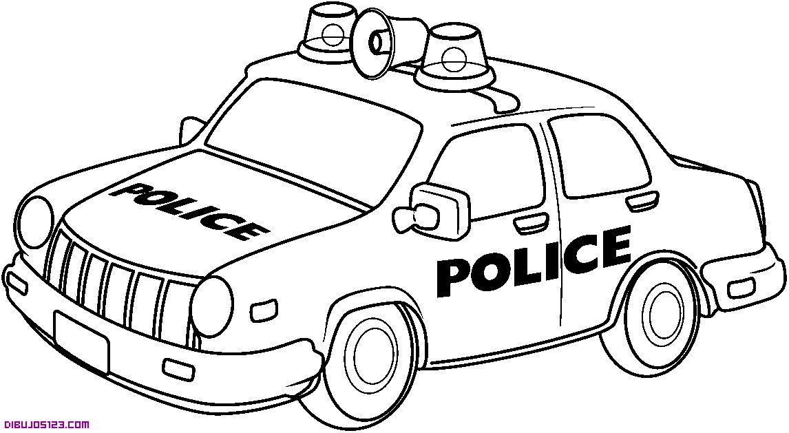 Coche de policia | Dibujos de carros | Cars coloring pages, Police