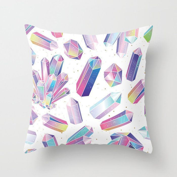 Purple Crystal Pillow, Crystal Geode Pillow, Amethyst Decor, Crystal Decor, Cont Purple Crystal Pillow