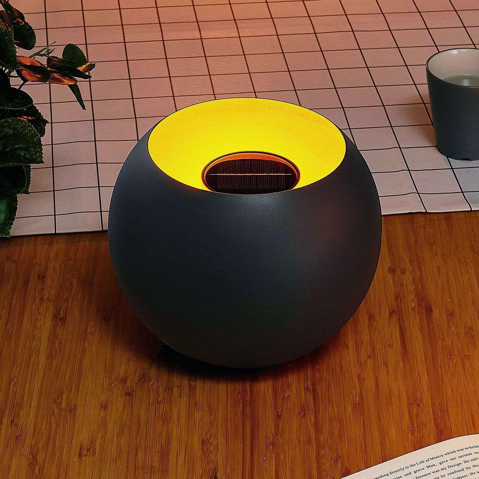 Lampe Energie Solaire Interieur lampe déco led jill solaire, sphère intérieur doré de lindby