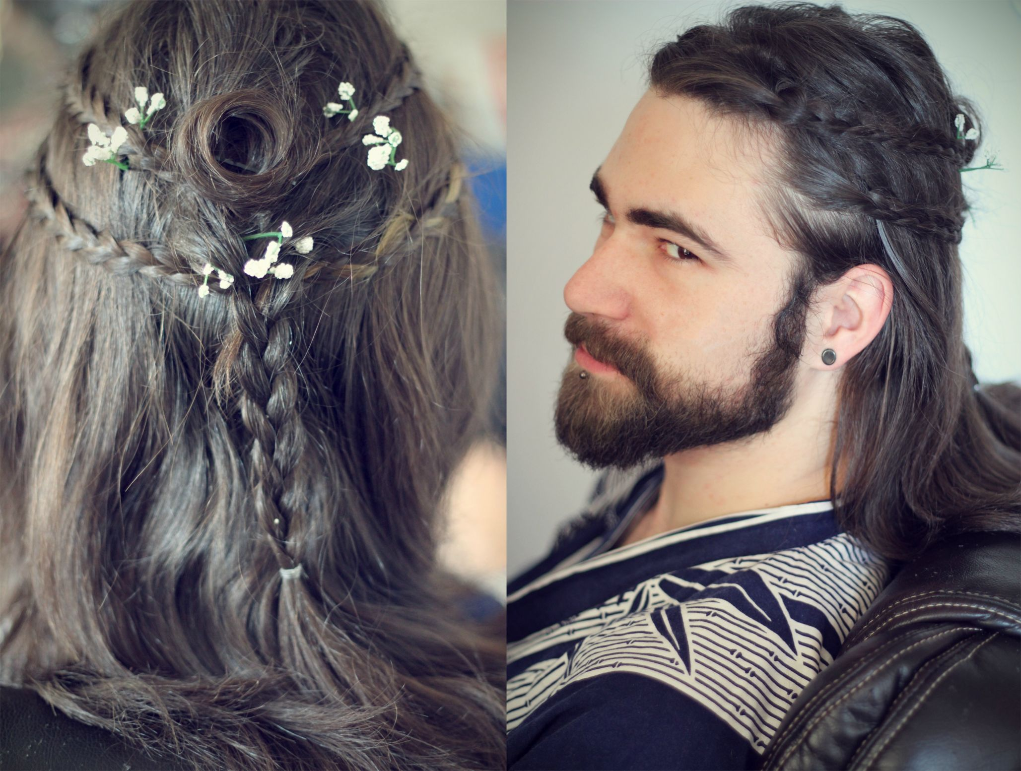 Mens Heroic Warrior Hairstyles Gaelic Braids Gothic Samurai Viking Celtic