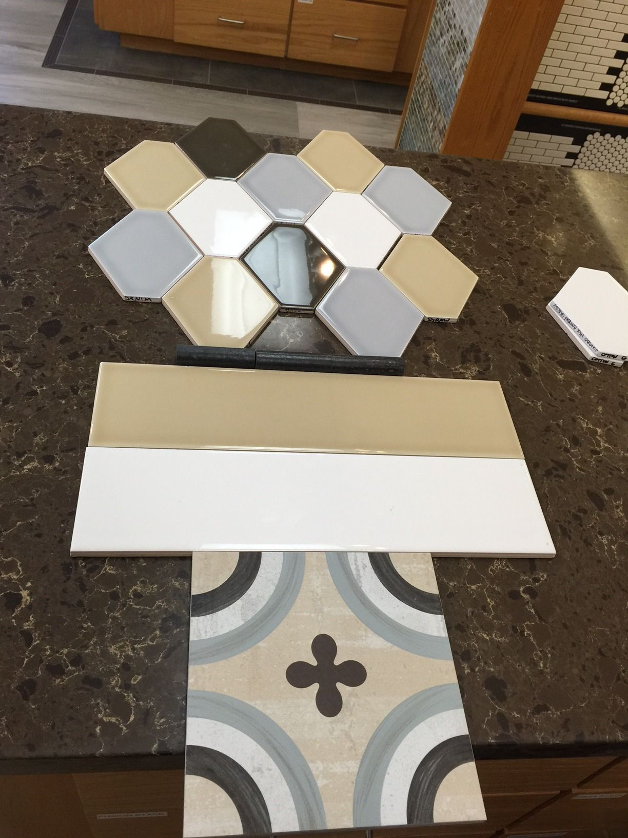 Our jumbo hex looks great with hl ceramic tile and this fun our jumbo hex looks great with hl ceramic tile and this fun cementine posa porcelain tile dailygadgetfo Image collections
