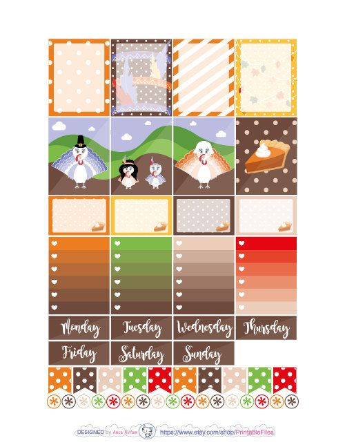 Printable planner stickers.This is a weekly kit of stickers designed for the Erin Condren vertical Life planner.  However you can use this weekly kit in other planners like Mambi Happy planner, personal planners, A5, Kikki K etc.  All planner stickers artwork is made in Adobe Illustrator after my sketches.This type of digital artwork is called vector meaning my designs are of the highest most crystal clear quality.  This is a digital download, no products will be shipped to you and because…