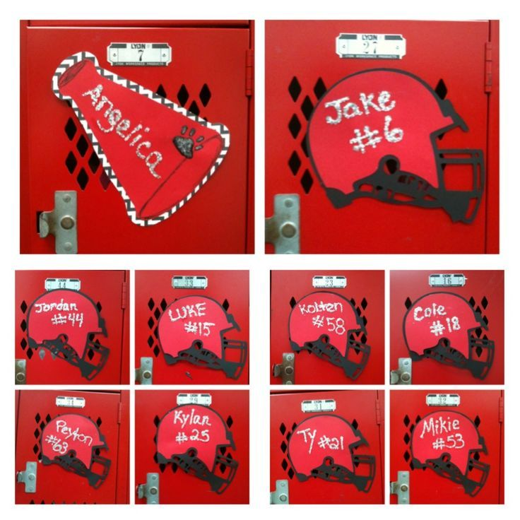 Cheerleading locker decorations this would be fun to make