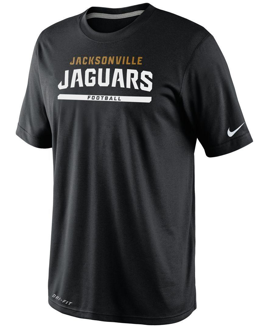 detailed look e2ccf a4b37 Nike Men's Jacksonville Jaguars Legend Elite Front T-Shirt ...