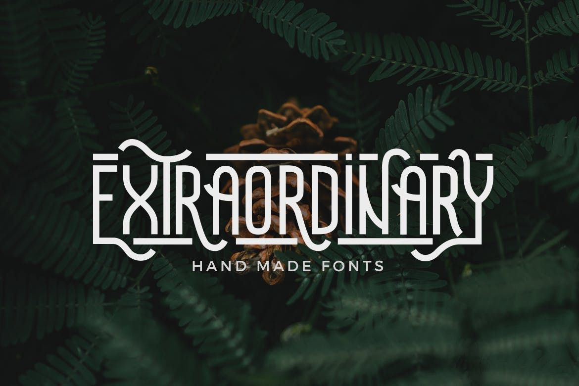 Download Extraordinary - Handmade Font by micromove on | Handmade ...