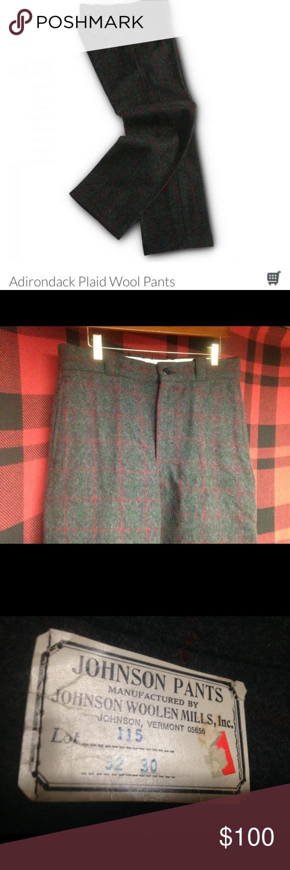 cf200ae7693f1 NWT Johnson woolen mills adirondack plaid pants 32 New with tags Johnson  woolen mills of Vermont