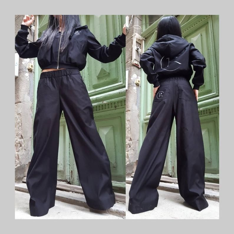 Extravagant Women Black Baggy Pants * AvantGarde Women