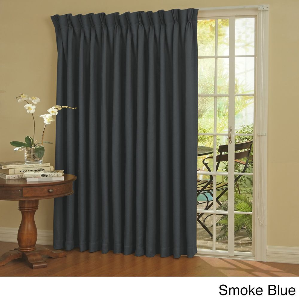 Eclipse thermal blackout patio door curtain panel storm blue size