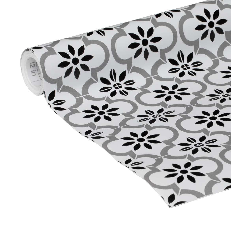 Black White Tile Adhesive Shelf Liner 20 X 15 Duck Brand Black And White Tiles Shelf Liner White Tiles
