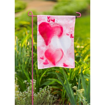 Hearts Garden Organza Flag Evergreen Enterprises Flag Garden Decor