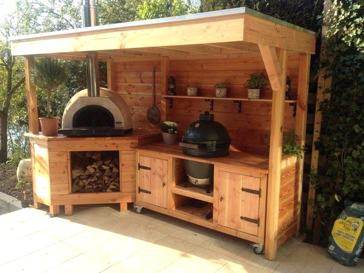 Outdoor kitchen areas have long been prominent in the cozy ...