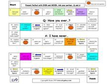 Present Perfect Board Game Tense
