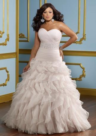 For our Curvier Brides - Julietta Plus Size Bridal by Mori lee - Julietta 3118 (wedding gown)