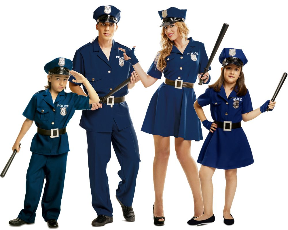 Grupo disfraces de polic as azules disfraces carnaval - Difraces para carnaval ...