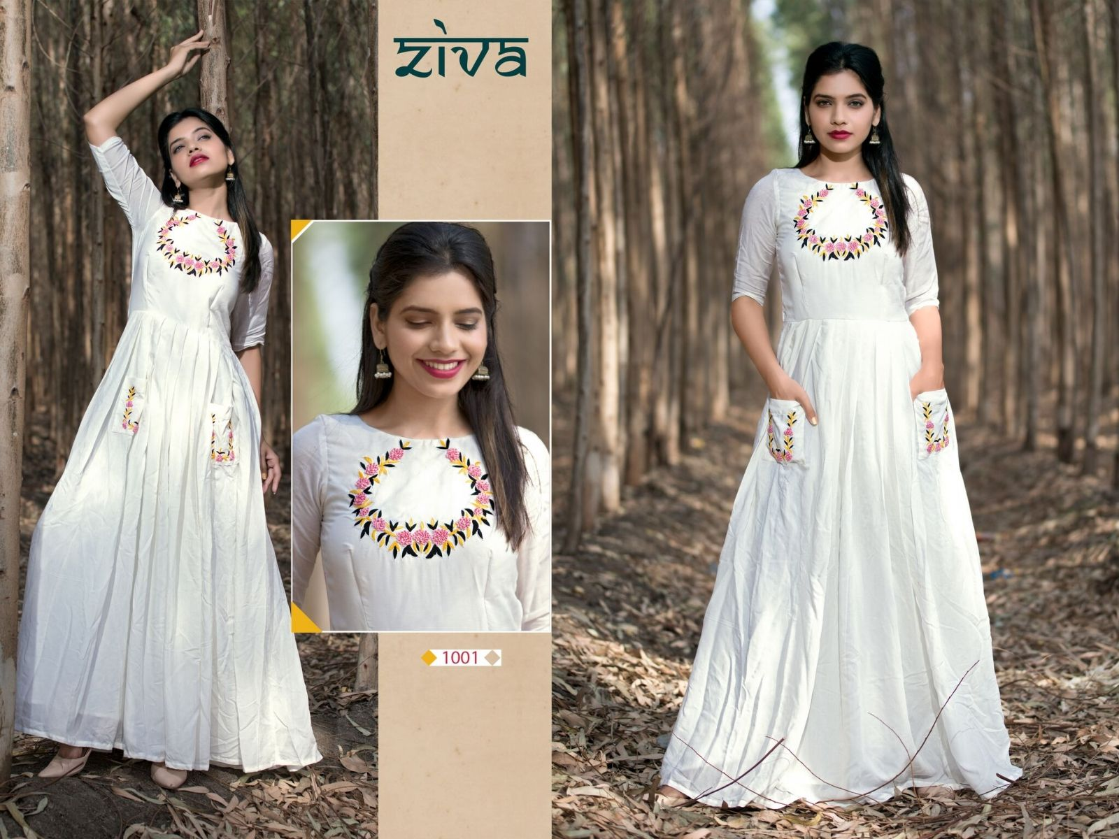 40d51f7178 Buy Fashion Zonez Muslin Silk Hand Work White Gown Online at Low prices in  India on Winsant