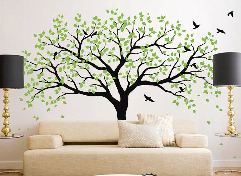 Large tree wall decal Tree Wall Decals Frame Family by iWallDecals ...