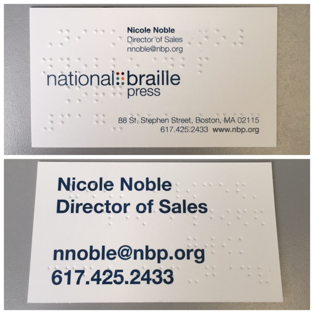 Braille Production Services Braille Business Cards Braille Business Cards Embossed Business Cards