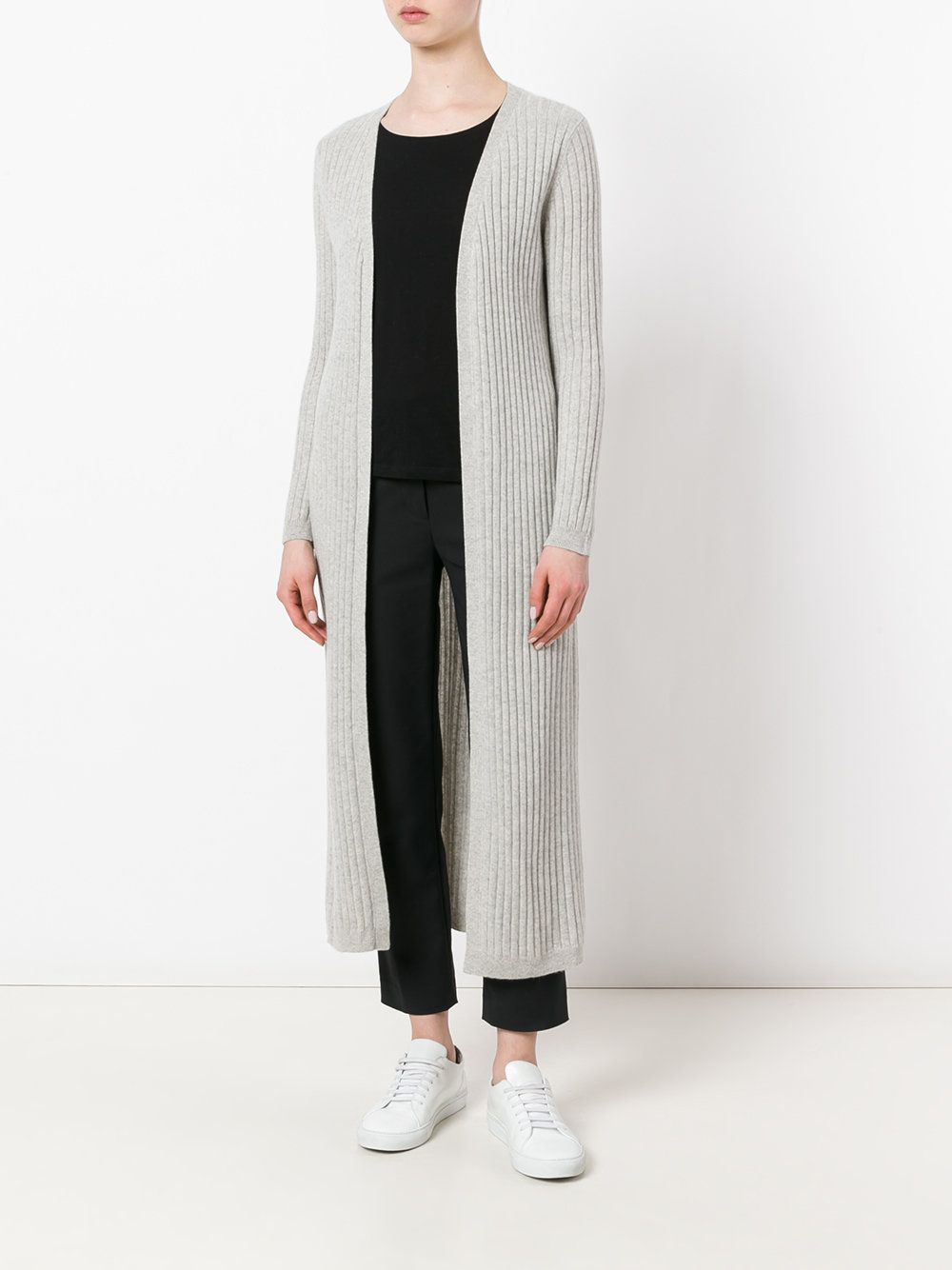 N.Peal ribbed-knit duster cardigan