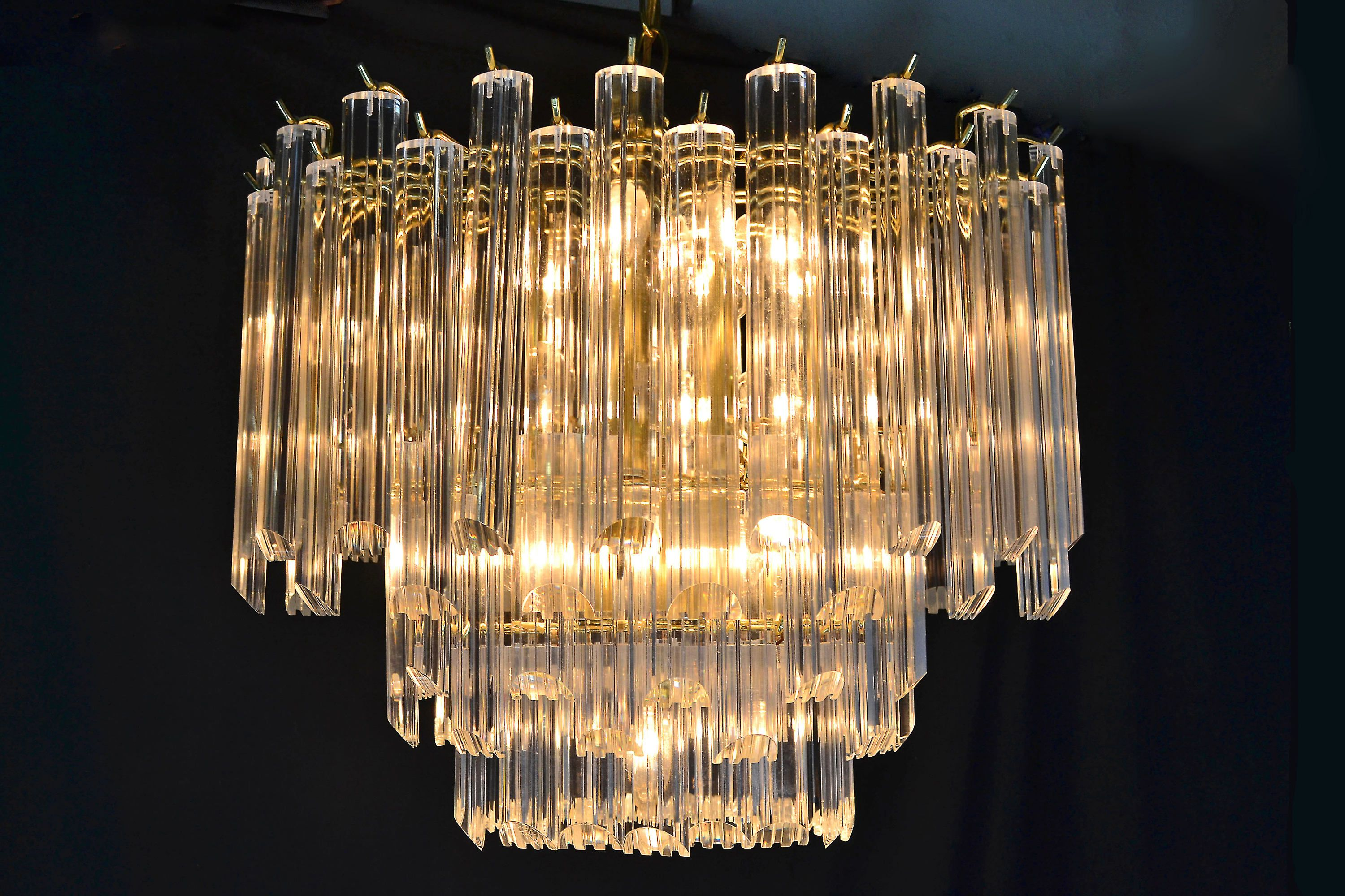 Mid Century Modern Oval Chandelier 10 Lights By Triarch Lighting