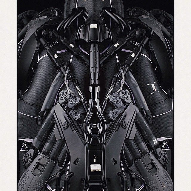 A crop from a top view rendering of the Atom-Eater's back that shows the kitbash parts I used from the Ultraborg SUBD 3D KitBash library. #conceptdesign #conceptart #robotics #robot #cybernetic #cyborg #mech #mechanical #atomeater #blackphoenixproject #ultraborg #kitbash #3d #keyshot #digital #rendering #hardsurface
