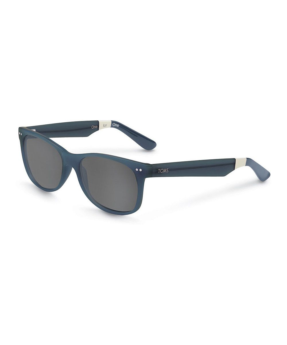 Look at this TOMS Teal & Deep Blue Crystal Beachmaster Sunglasses on  #zulily today!