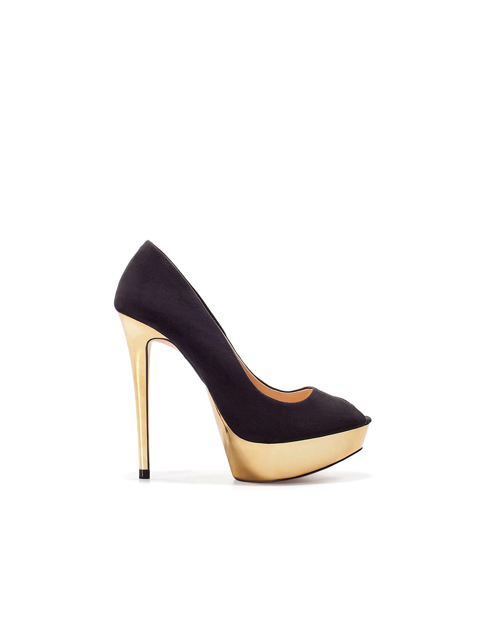 0e0fc7736a4 PEEP TOE PLATAFORMA METAL - Zapatos - Mujer - Nueva colección - ZARA México