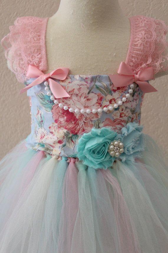 Beautiful Floral Tea Party Tutu Dress Tea by ClassySassyElegance