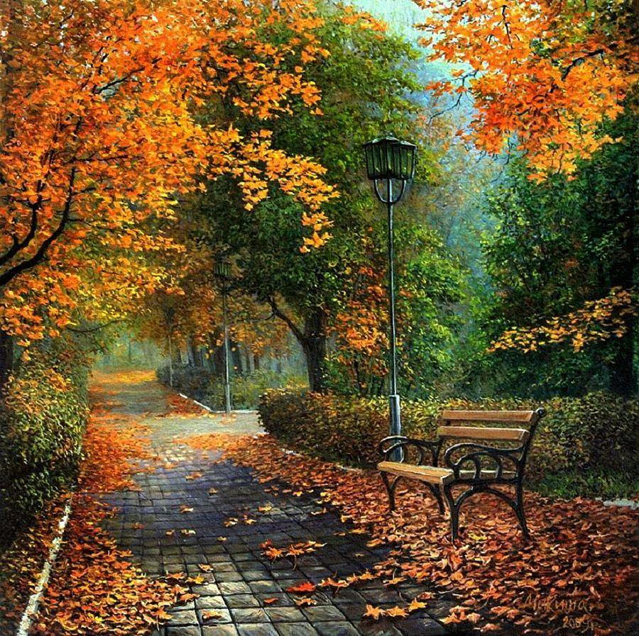 Для разделочной, картинки пейзажные осень