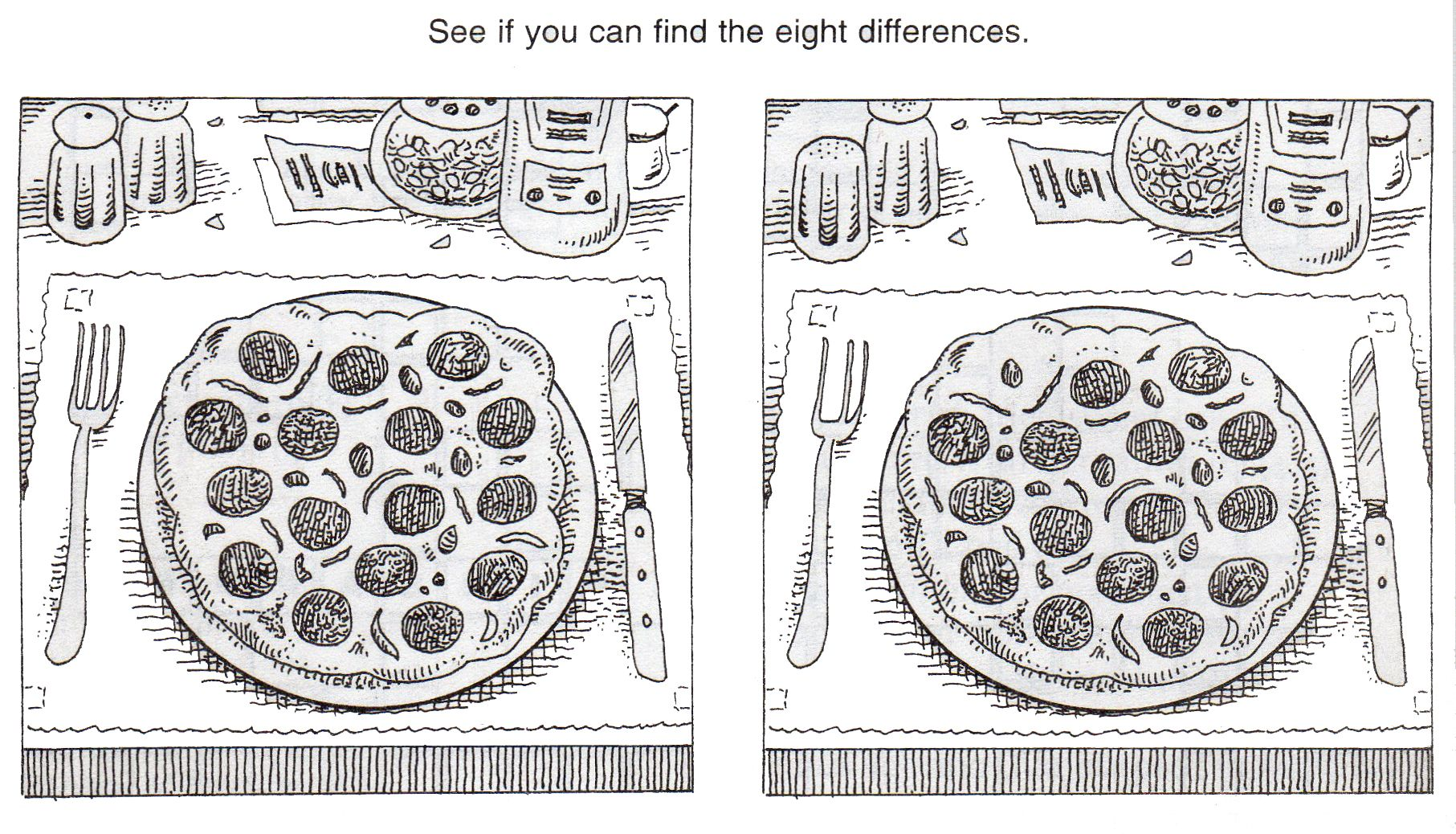 Free Printable Spot The Difference Puzzles