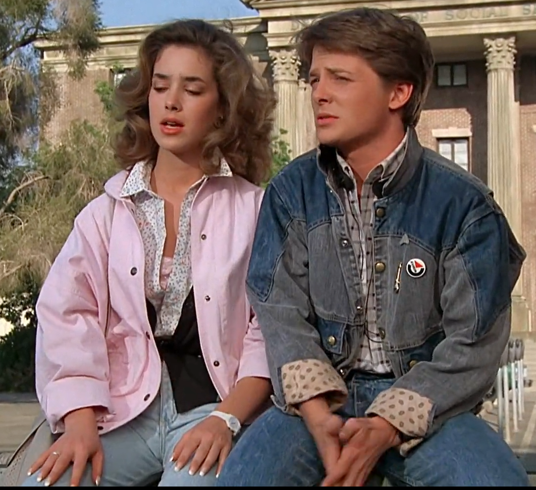 Diy Female Marty Mcfly Cosplay Costume Part Ii Marty Mcfly Movie Fashion 1980s Outfits [ 990 x 1082 Pixel ]