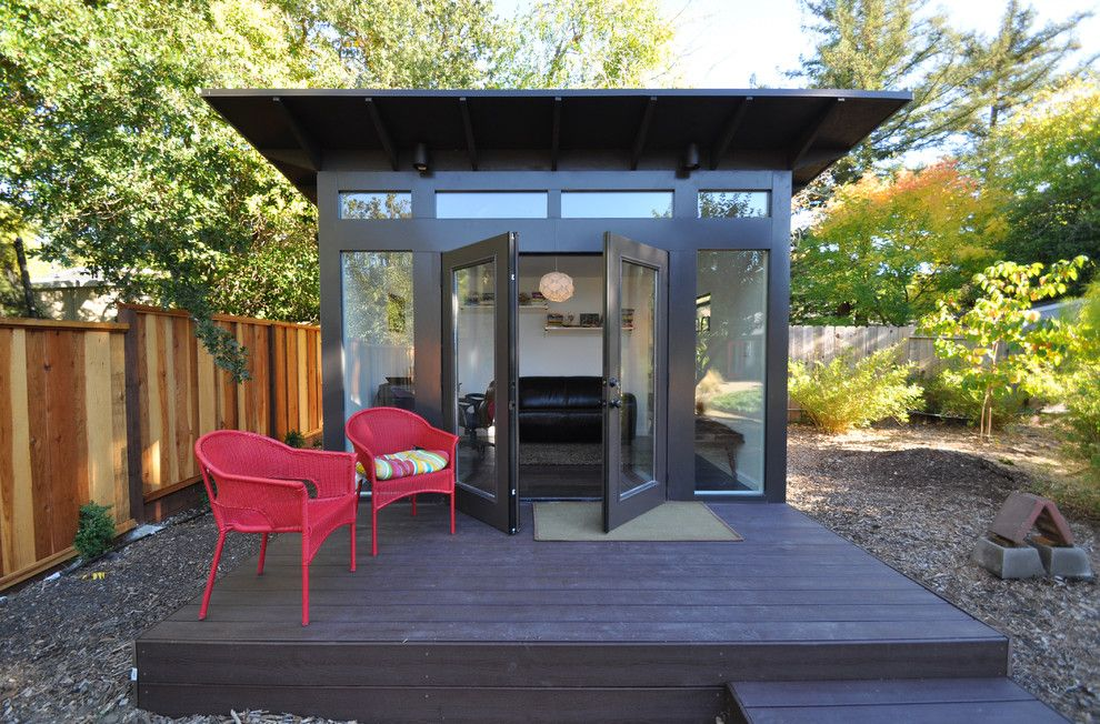 15 compact modern studio shed designs for your backyard for Outdoor office ideas