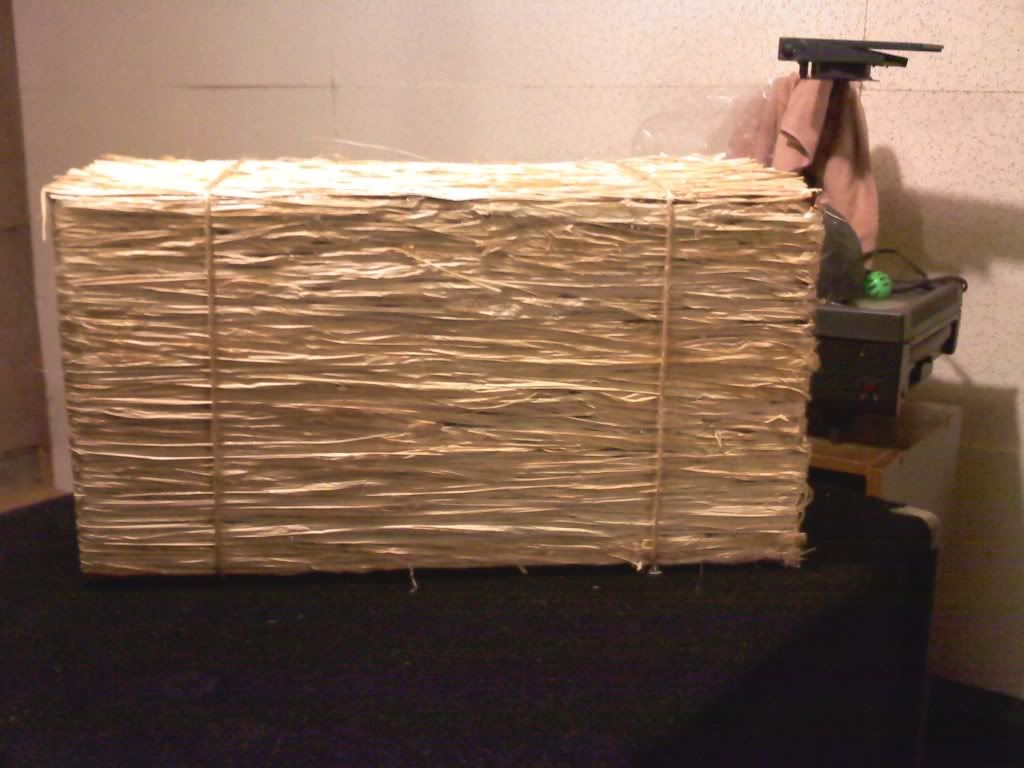 Heres An Idea Fake Hay Bales Made From Cardboard Box This One