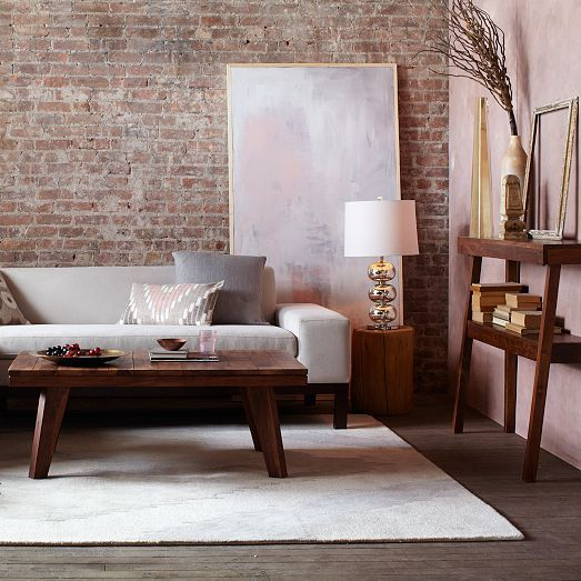 Natural Tree Stump Side Table Modern Chic Living Room