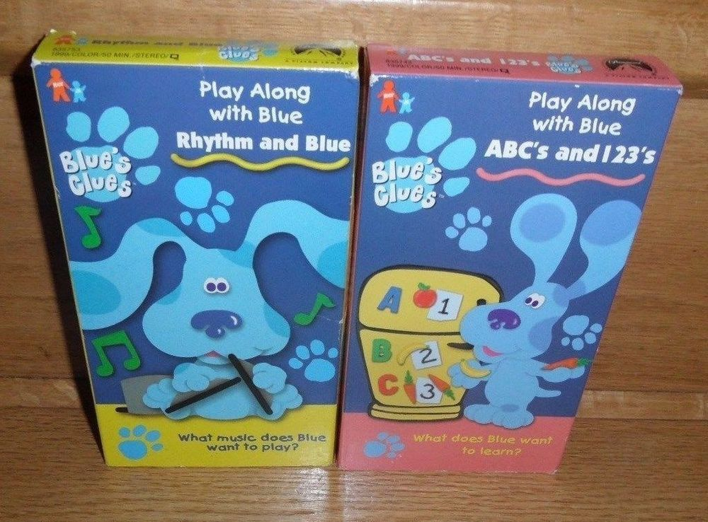 2 Blues Clues Vhs Abcs And 123s Rhythm And Blue Rhythm And Blue Blues Clues Blues