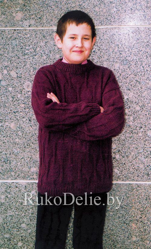 Пуловер для подростка | Вязание мальчикам