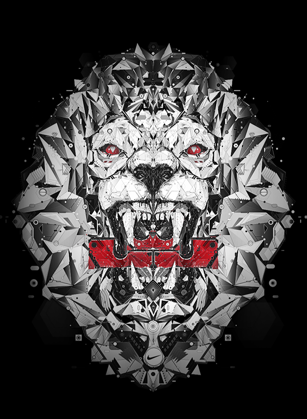83f2bad15f1f T-shirt design for Nike-Lebron James on Behance Lebron James, Lion,