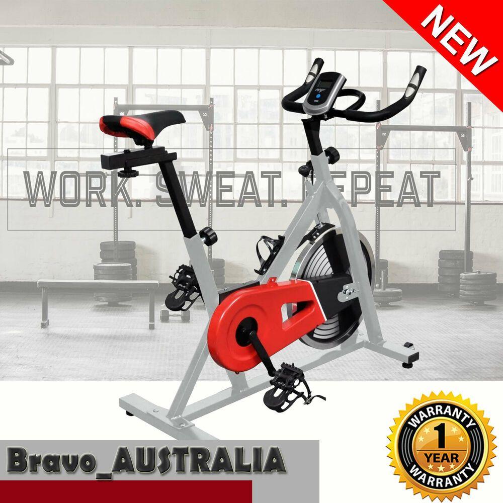 Exercise Spin Bike Home Workout Gym 15kg Flywheel Pulse Sensor