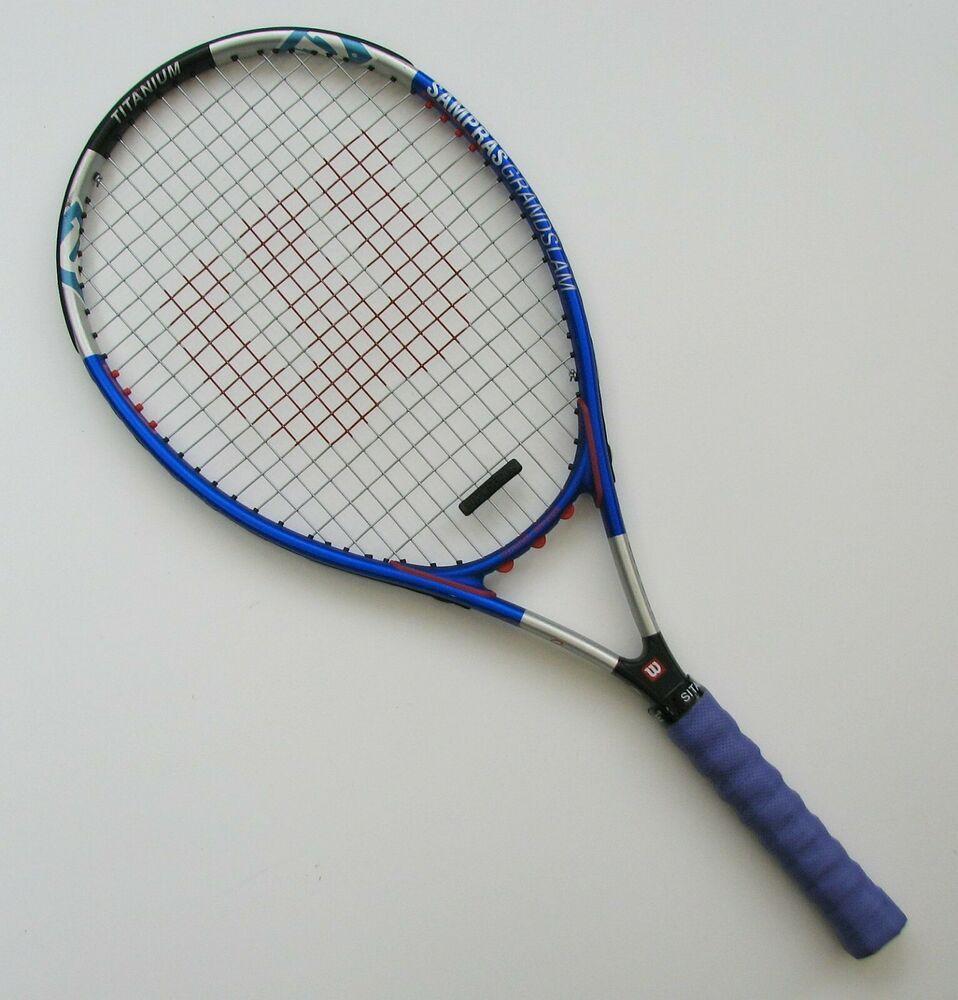 Wilson Pete Sampras Grand Slam Titanium Tennis Racquet 4 1 2 L2 Wilson Raquetes